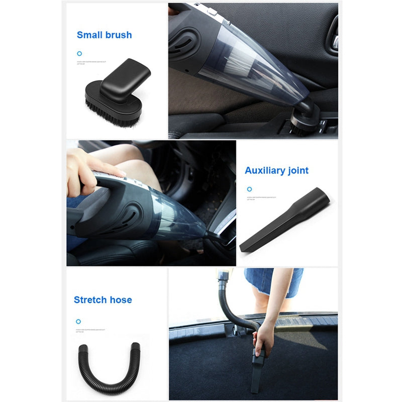 Handheld Vacuum Cordless Powerful Cyclone Suction Portable Rechargeable Vacuum Cleaner Quick Charge for Car Home Pet Hair