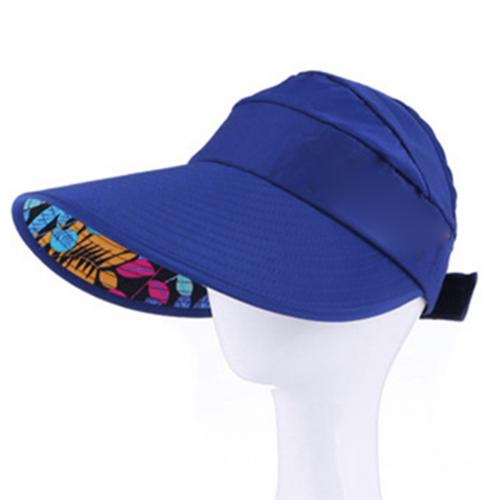 Summer Sun Hats for Women ladies visors Solid Color Wide Brim Beads Flower Decor Sun Hat Visors Outdoor Sports Cap