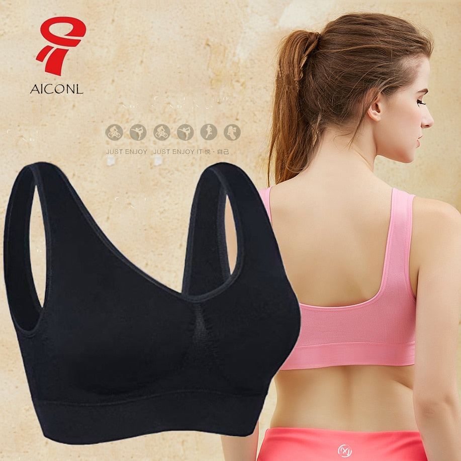 Plus Size Bras For Women Seamless Underwear Bh With Pads High Quality sports Bralette Push Up Brassier Vest Wireless lingerie bh