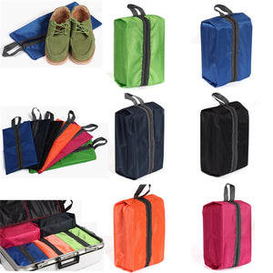 Multi-colored Portable Waterproof Portable Travel Shoe Bag Zip View Window Pouch Storage Waterproof Organizer
