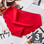 Load image into Gallery viewer, 3pcs/lot Sexy Panties For Women Briefs Set Seamless Lingerie Solid Mid-Waist Cotton Panty Female Underpants Underwear #F