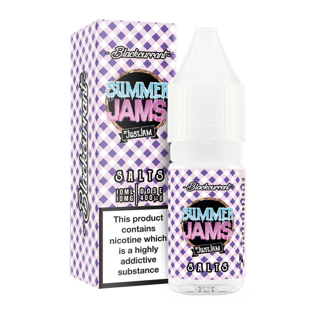 Just Jam - Summer Jam Blackcurrant 10ml Nic Salt - The Ace Of Vapez