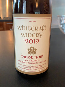 2019 - Whitcraft Winery - Pinot Noir