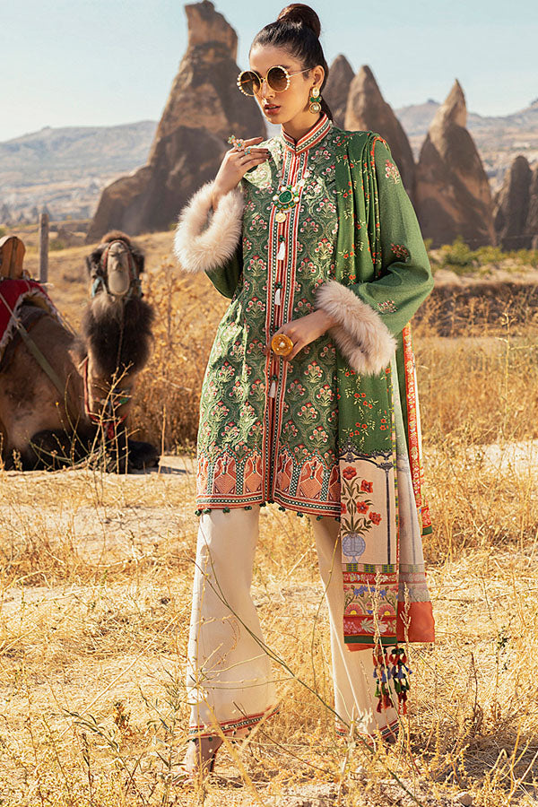 Mushq Hemline Winter Embroidered Unstitched 3 Piece Suit Collection MWC20-12