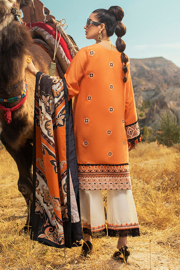 Mushq Hemline Winter Embroidered Unstitched 3 Piece Suit Collection MWC20-06