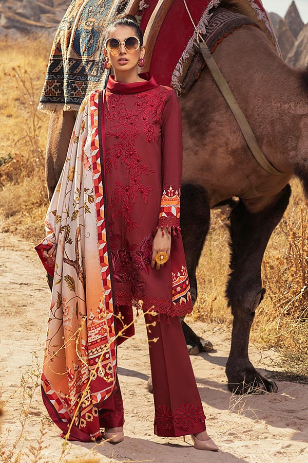 Mushq Hemline Winter Embroidered Unstitched 3 Piece Suit Collection MWC20-02