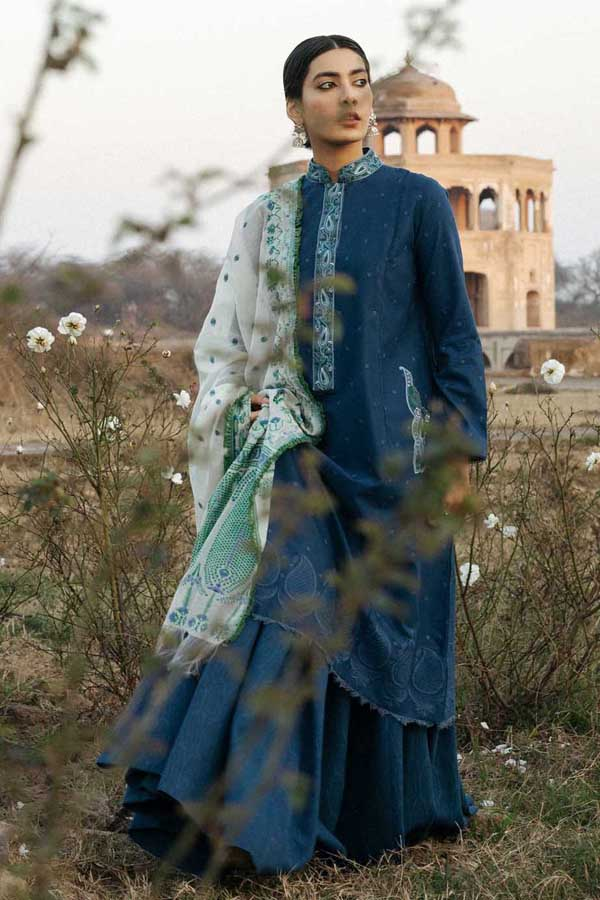 Zara Shahjahan Luxury Lawn Embroidered Unstitched 3 Piece Suit Collection ZSJ20-SAHIBO-B