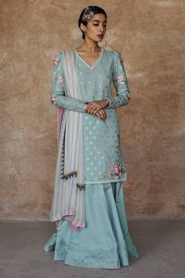 Zara Shahjahan Luxury Lawn Embroidered Unstitched 3 Piece Suit Collection ZSJ20-MEHER BANO-B