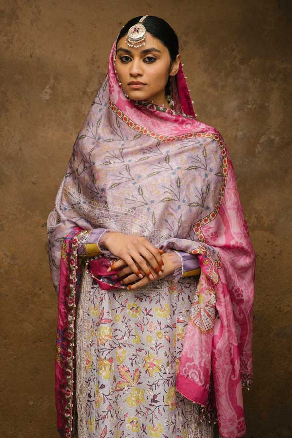 Zara Shahjahan Luxury Lawn Embroidered Unstitched 3 Piece Suit Collection ZSJ20-MAHIN-B
