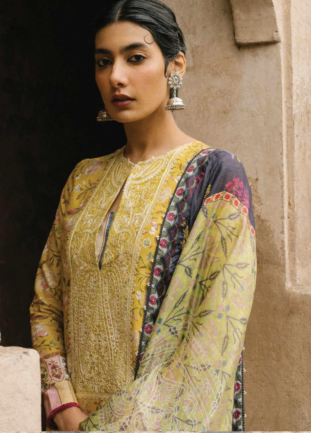 Zara Shahjahan Luxury Lawn Embroidered Unstitched 3 Piece Suit Collection ZSJ20-MAHIN-A