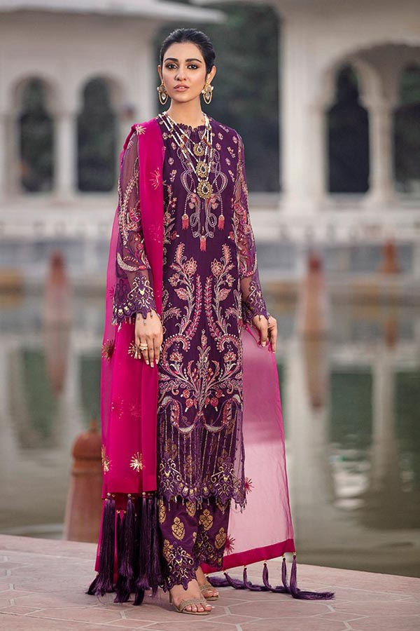 Afrozeh Shehnai Wedding Formal's Embroidered Unstitched 3 Piece Suit Collection ASW20-06