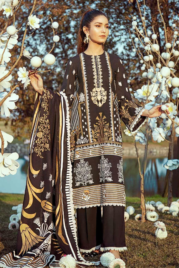 Cross Stitch Koh Kaaf Premium Lawn Embroidered Unstitched 3 Piece Suit Collection CSC20-07