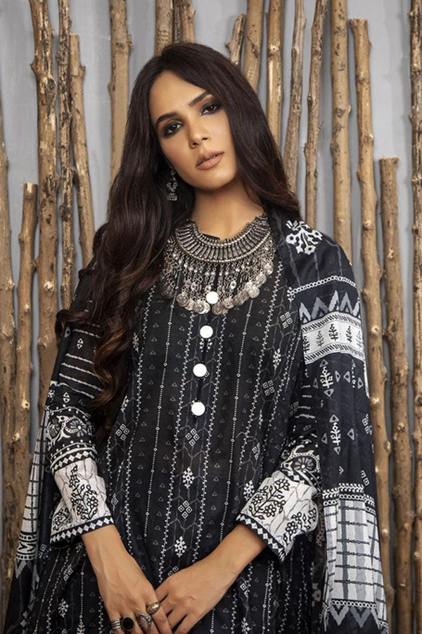 LSM Lakhany Komal Print Lawn Embroidered Unstitched 3 Piece Suit Collection LKC20-2082