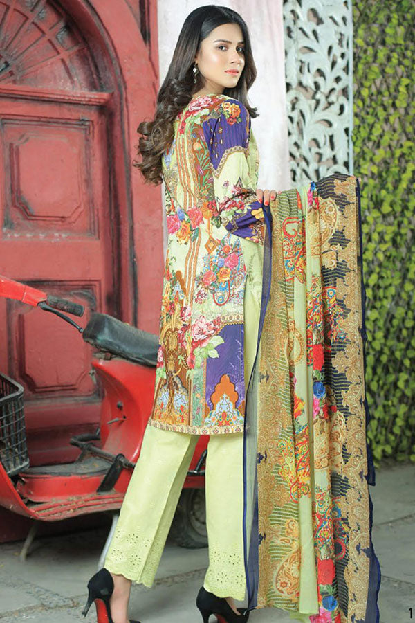 Mishi's Digital Lawn Embroidered Unstitched 3 Piece Suit Collection MDC20-103