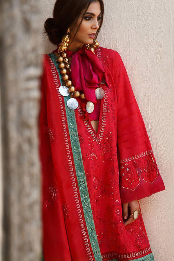 Elan Spring Summer Embroidered Unstitched 3 Piece Suit Collection ESC20-10B