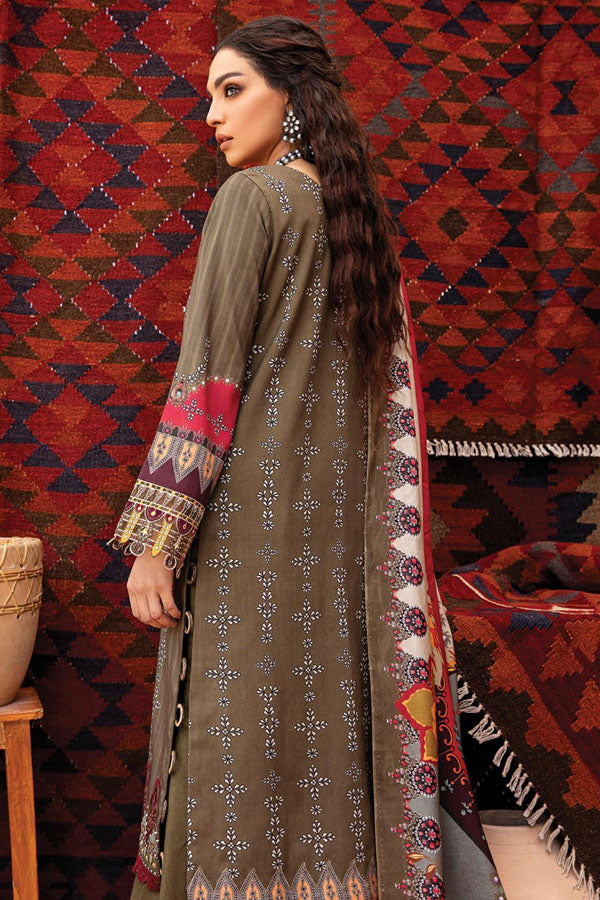 Iznik Zarsa Winter Embroidered Unstitched 3 Piece Suit Collection IWC20-11