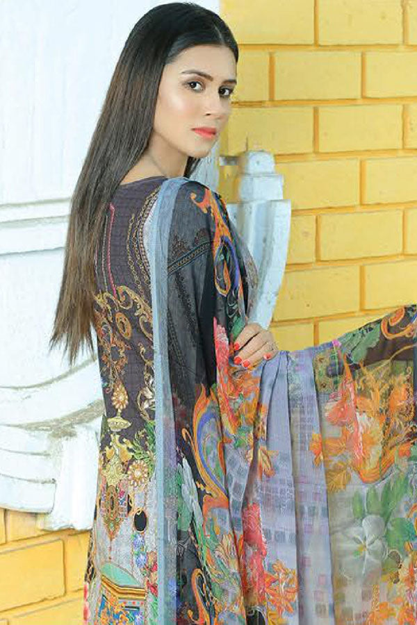 Mishi's Digital Lawn Embroidered Unstitched 3 Piece Suit Collection MDC20-110