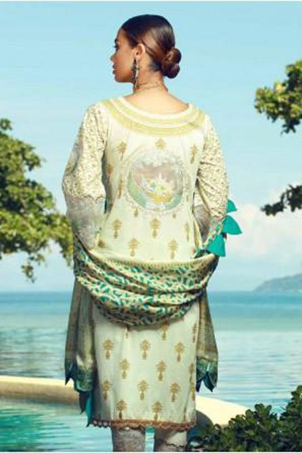 Tena Durrani Eid Festive Lawn Embroidered Unstitched 3 Piece Suit Collection TDF18-11