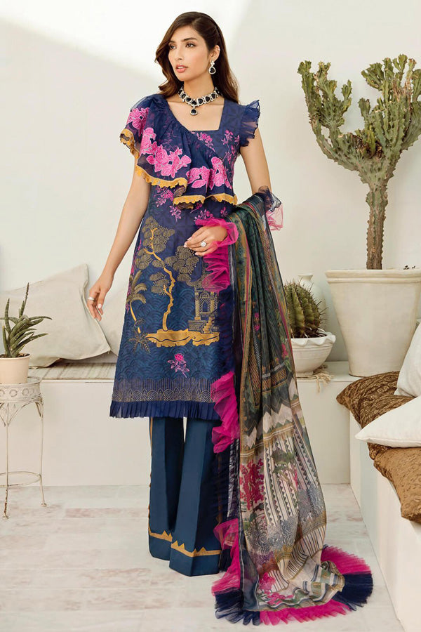Azalea Lawn Embroidered Unstitched 3 Piece Suit Collection ALC20-11