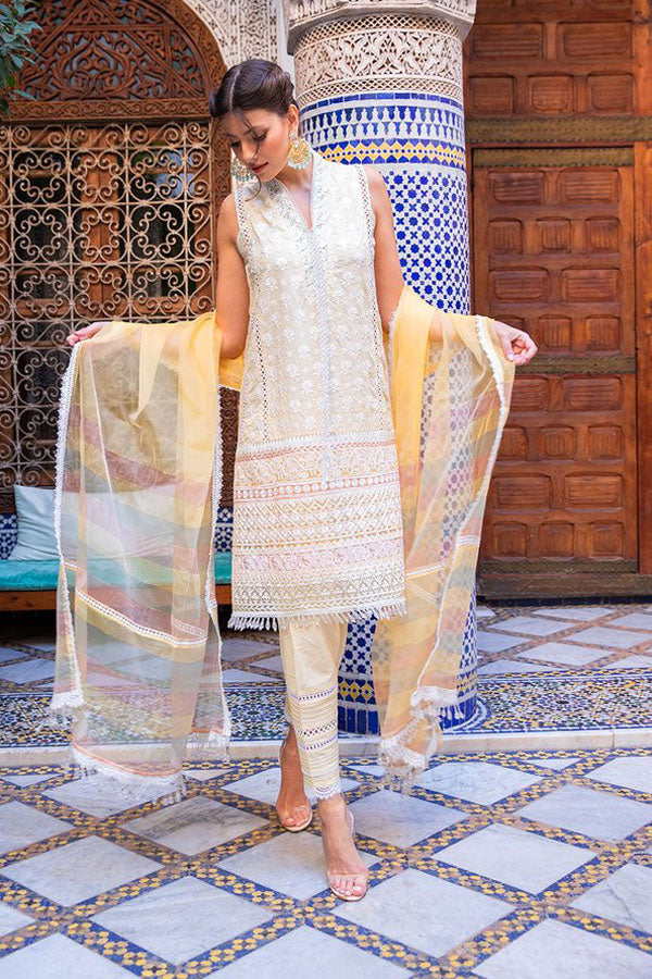 Sobia Nazir Luxury Lawn Embroidered Unstitched 3 Piece Suit Collection SNL20-12A