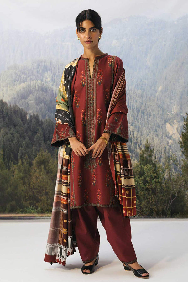 Zara Shahjahan Coco Winter Embroidered Unstitched 3 Piece Suit Collection ZCC20-1A