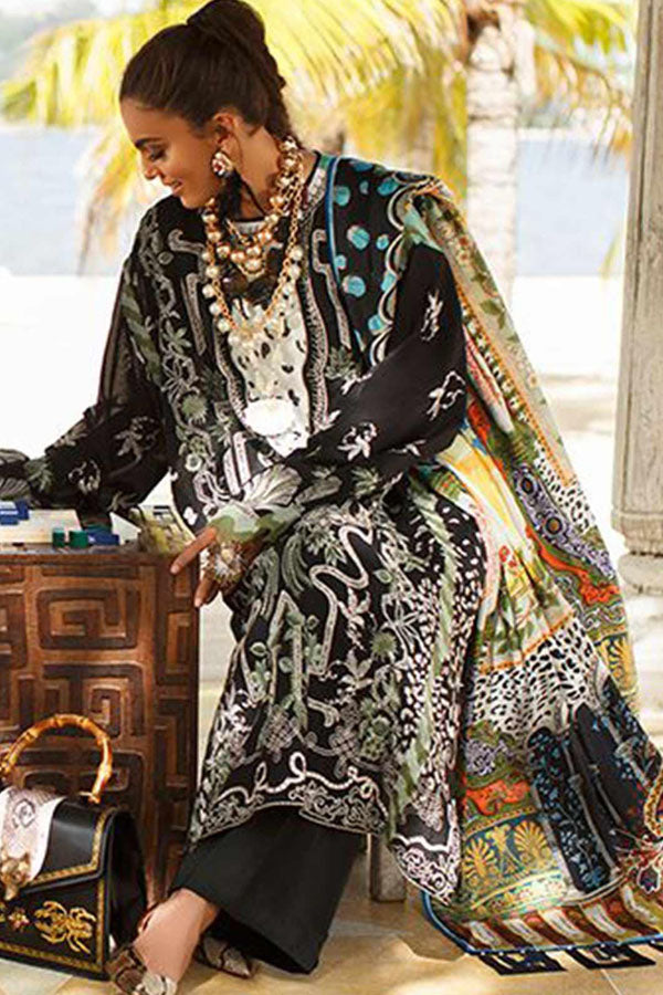 Elan Spring Summer Embroidered Unstitched 3 Piece Suit Collection ESC20-1A
