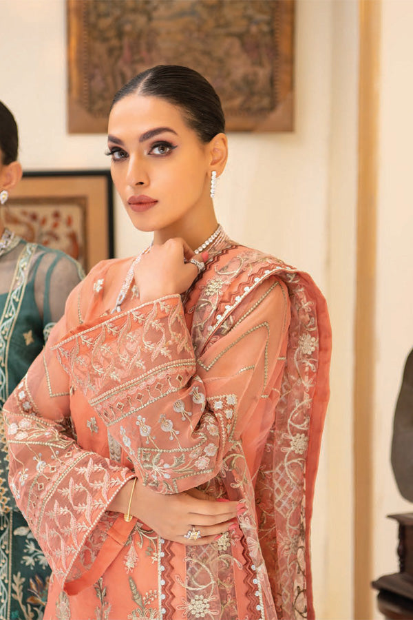 AIK Atelier Reveuse Organza And Tulle Embroidered Unstitched 3 Piece Suit collection ARO21-04
