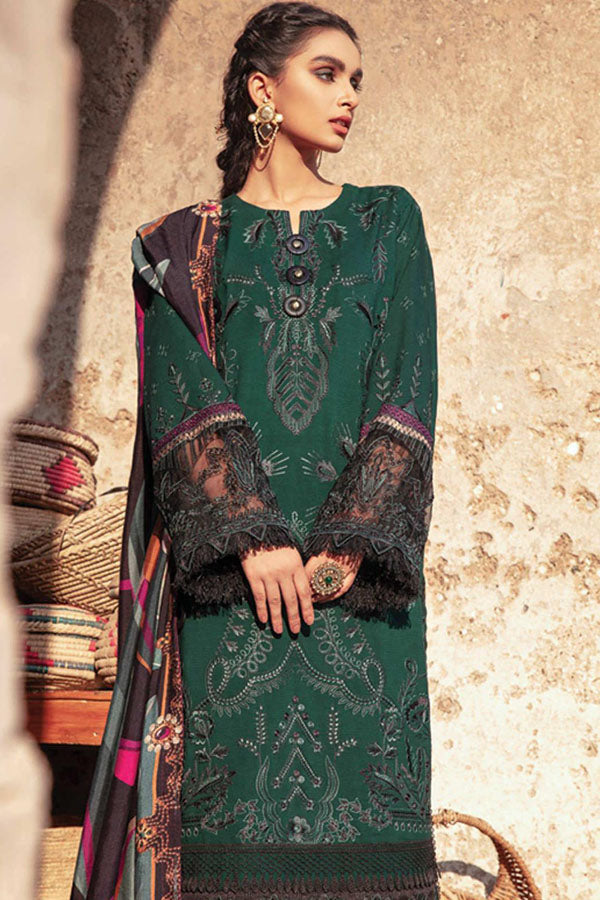 Iznik Zarsa Winter Embroidered Unstitched 3 Piece Suit Collection IWC20-05