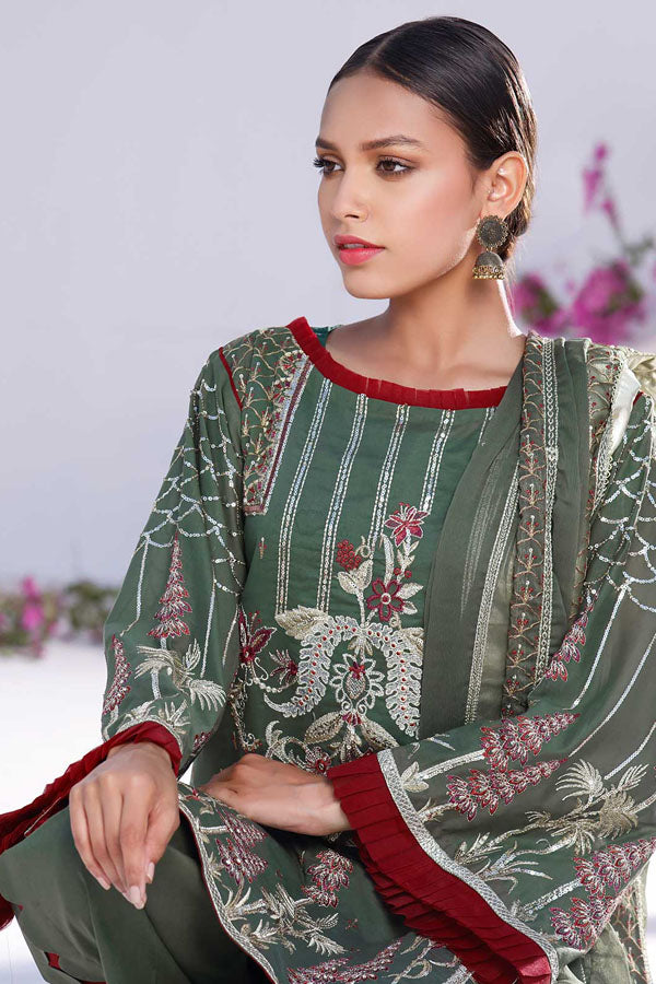 Pairahan Swiss Voile Volume-I Embroidered Unstitched 3 Piece Suit Collection PSV21-ALGUE - 04