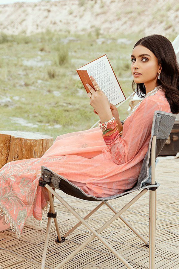 Afrozeh Riwaj Lawn Embroidered Unstitched 3 Piece Suit Collection ARC20-03