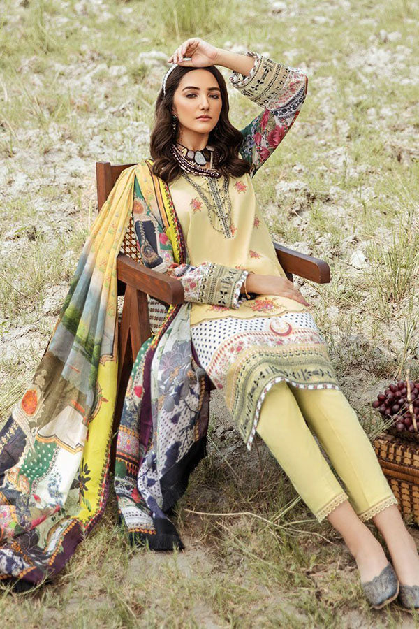 Afrozeh Riwaj Lawn Embroidered Unstitched 3 Piece Suit Collection ARC20-09