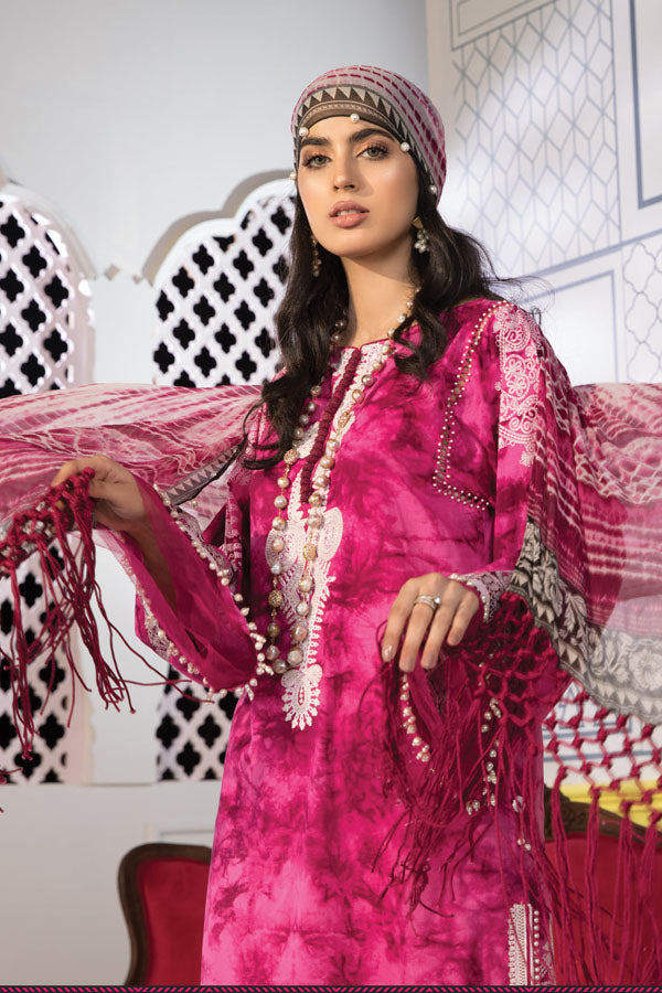 Sarang Formal Festive Chiffon Embroidered Unstitched 3 Piece Suit Collection SFC19-06