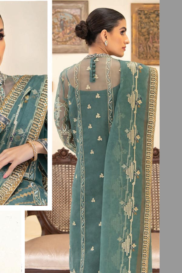 AIK Atelier Reveuse Organza And Tulle Embroidered Unstitched 3 Piece Suit collection ARO21-05