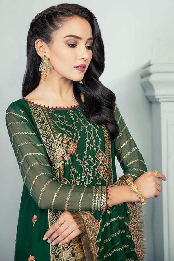 Alizeh Fashion Chiffon Embroidered Unstitched 3 Piece Suit Vol-3 Collection ACC20-08