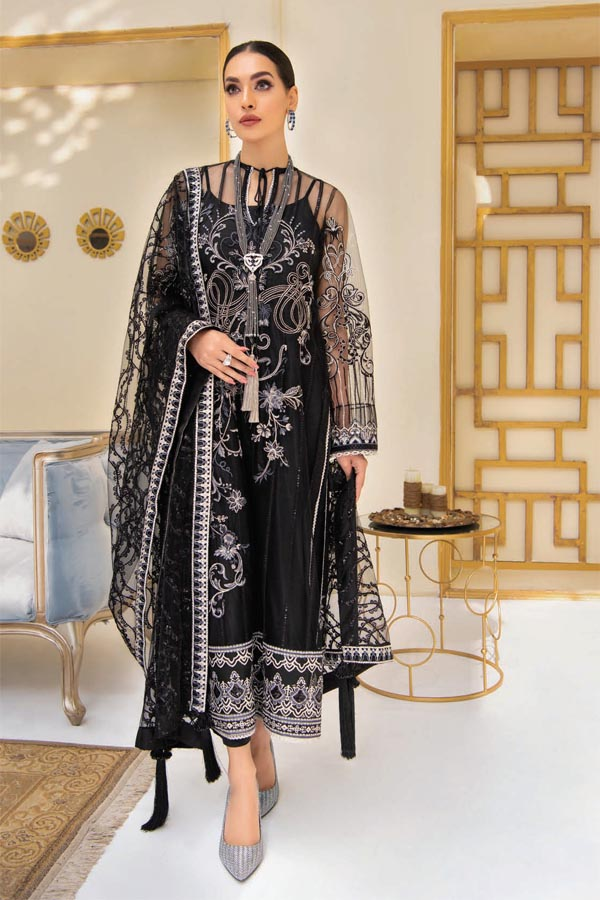 AIK Atelier Reveuse Organza And Tulle Embroidered Unstitched 3 Piece Suit collection ARO21-06
