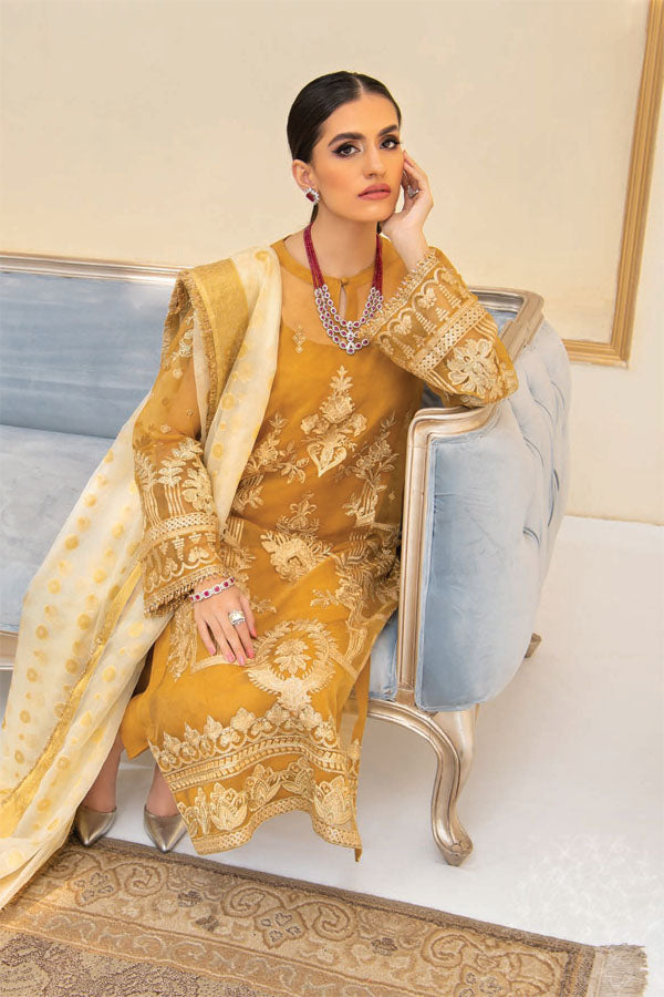 AIK Atelier Reveuse Organza And Tulle Embroidered Unstitched 3 Piece Suit collection ARO21-07