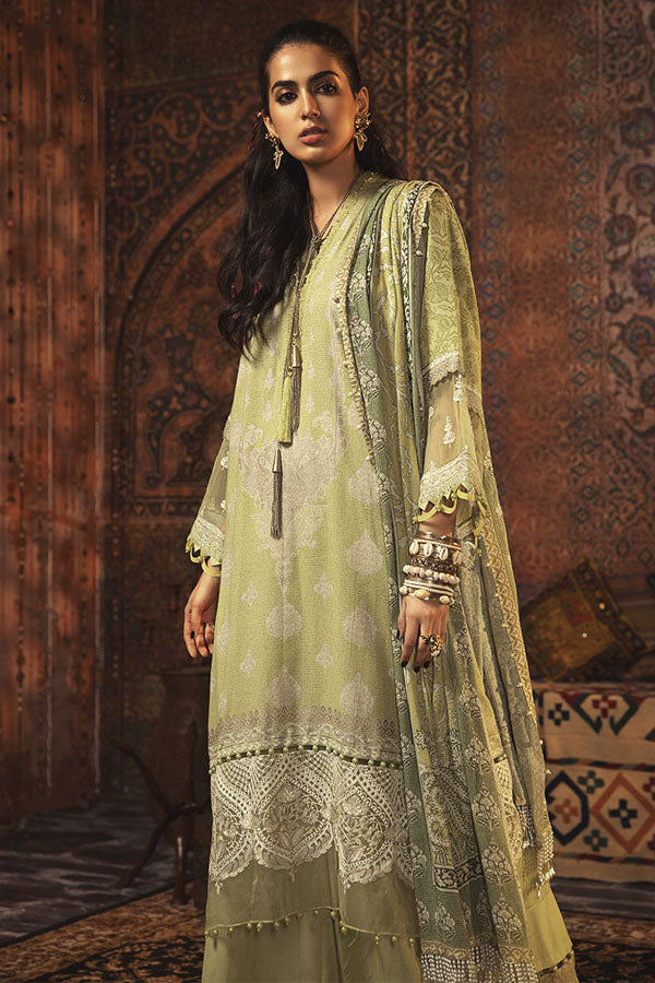 Maria.b M.print Winter Embroidered Unstitched 3 Piece Suit Collection MWC20-9A