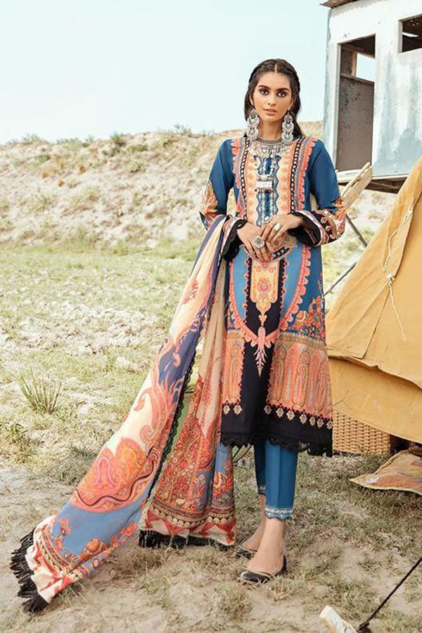 Afrozeh Riwaj Lawn Embroidered Unstitched 3 Piece Suit Collection ARC20-06