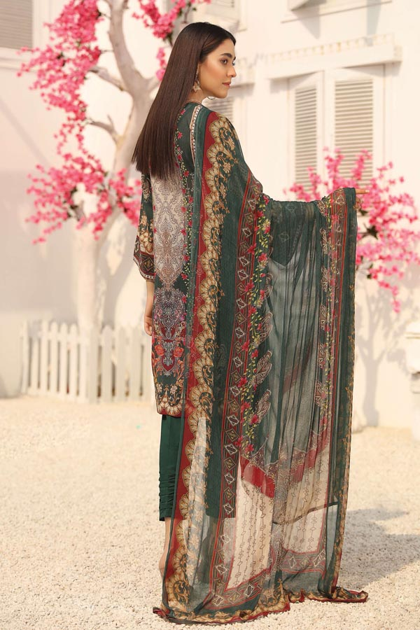 Aalaya Swiss Voile Embroidered Unstitched 3 Piece Suit Collection ASV21-06
