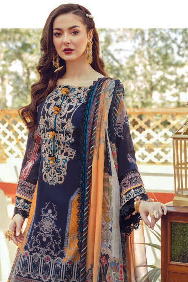 Asim Jofa Tabt Luxury Lawn Embroidered Unstitched 3 Piece Suit Collection AJL21-18