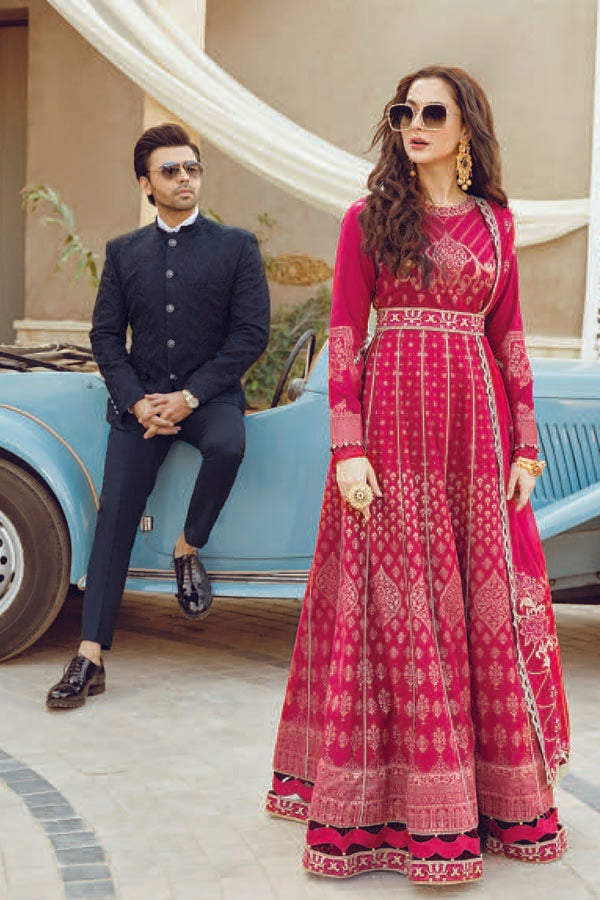 Asim Jofa Tabt Luxury Lawn Embroidered Unstitched 3 Piece Suit Collection AJL21-20