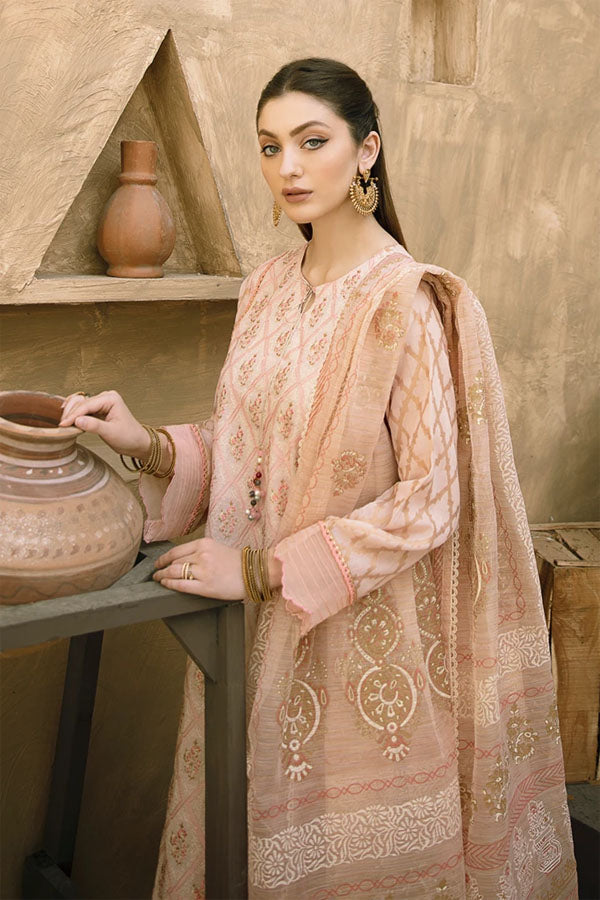 Aabyaan Eid Embroidered Unstitched 3 Piece Suit Collection AEC21-MAHGUL (AE-04)