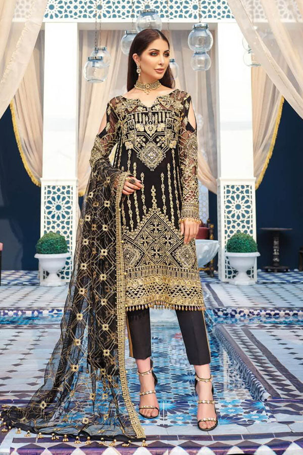 Gulaal Adila Luxury Formal's Embroidered Unstitched 3 Piece Suit collection GLF20-08