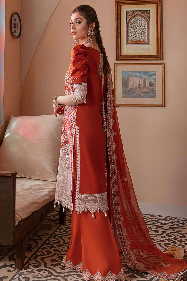 Afrozeh Gulbahar Festive Lawn Embroidered Unstitched 3 Piece Suit Collection AGF21-05 GULAB