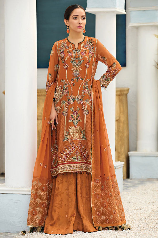 Alizeh Fashion Chiffon Embroidered Unstitched 3 Piece Suit Collection AFC21-04-MERAKI