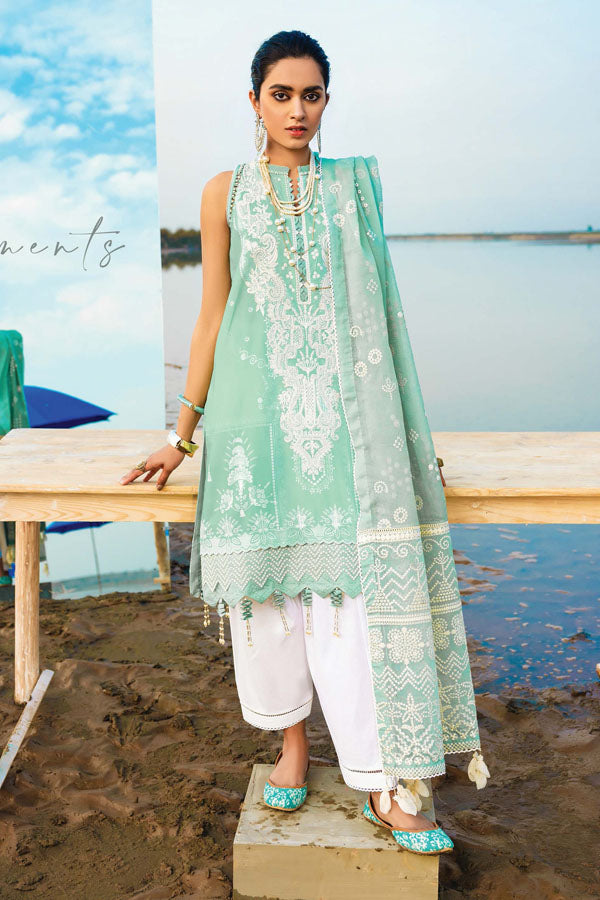 Baroque Summer Moment Lawn Embroidered Unstitched 3 Piece Suit Collection BSL21-06