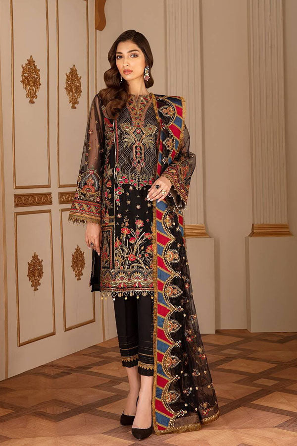 Baroque Chantelle Chiffon Embroidered Unstitched 3 Piece Suit Collection BCC20-04