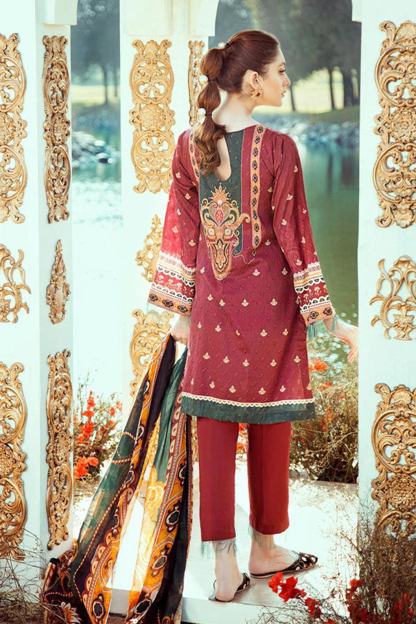 Cross Stitch Koh Kaaf Premium Lawn Embroidered Unstitched 3 Piece Suit Collection CSC20-24