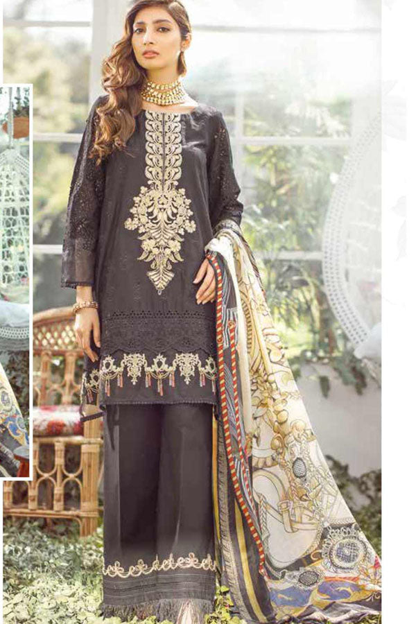 Elaf Premium Luxury Lawn Embroidered Unstitched 3 Piece Suit Collection EPL20-02