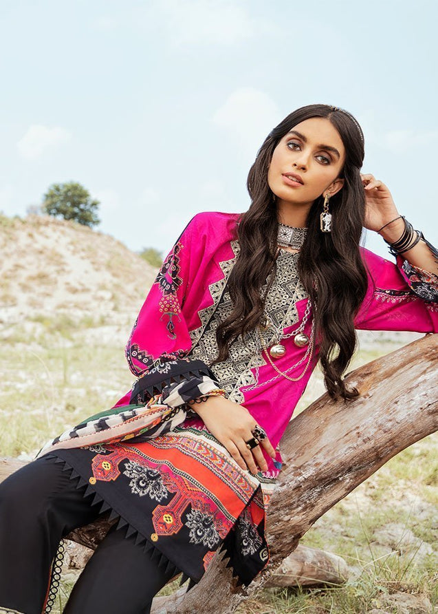 Afrozeh Riwaj Lawn Embroidered Unstitched 3 Piece Suit Collection ARC20-08